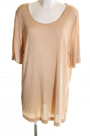 THEA 42 plus T-Shirt nude Streifenmuster Casual-Look