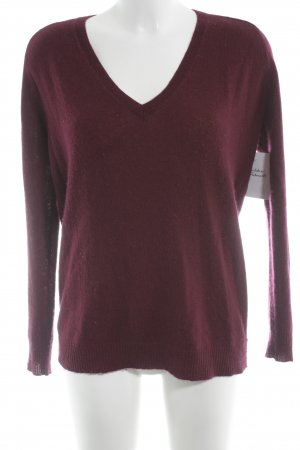 Theory Cashmerepullover bordeauxrot Casual-Look