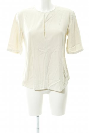Theory Kurzarm-Bluse hellbeige Casual-Look
