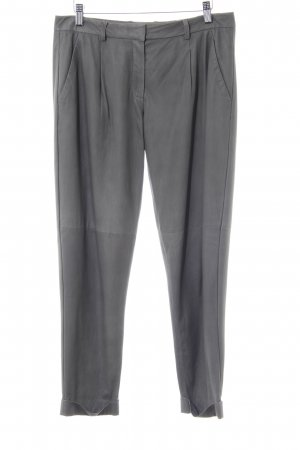 Theory Leren broek grijs vintage uitstraling