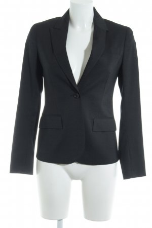 Theory Long-Blazer schwarz Nadelstreifen Business-Look