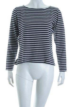 Theory Stripe Shirt dark blue-white navy look