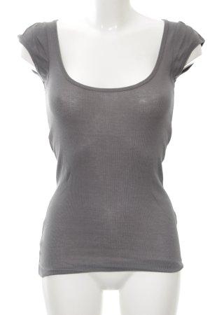 Theory Camisa acanalada gris claro look casual