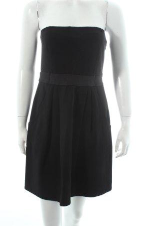 Theory schulterfreies Kleid schwarz Elegant