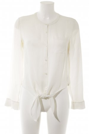 Theory Zijden blouse wolwit casual uitstraling