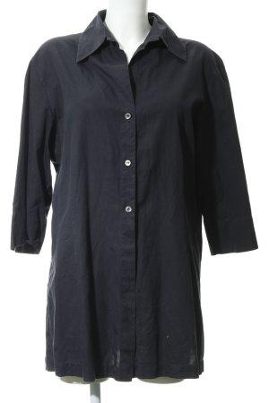 Theresa König Langarmhemd schwarz schlichter Stil