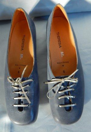 Theresia M. Ganzleder Ballerina,jeansblau,herausnehmbare Sohle,Gr.6 Weite H