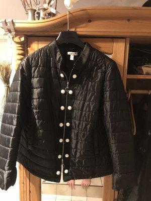 Alba Moda Quilted Jacket black-white