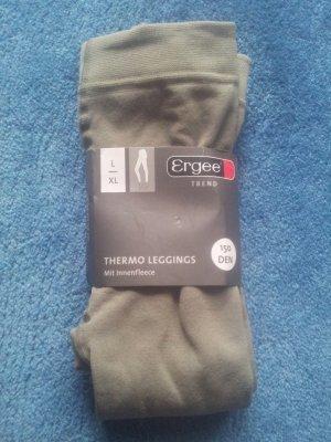 Leggings caqui-gris verdoso