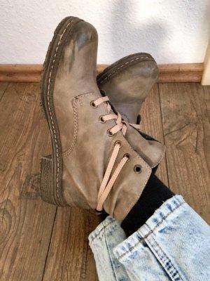 Rieker Bottines à lacets beige-gris brun