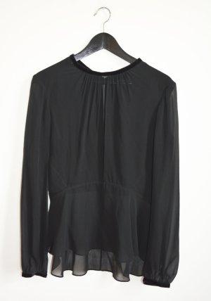 Theyskens' Theory Slip-over blouse zwart Zijde