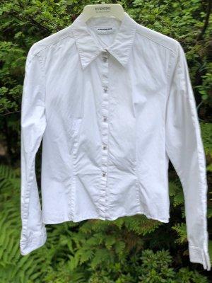 THIERRY MUGLER Bluse Gr. DE 40 weiß