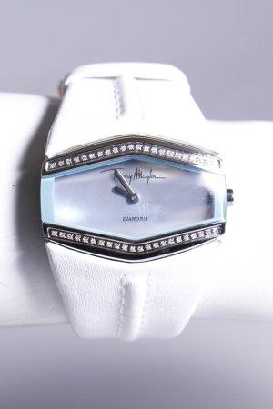 Thierry Mugler Damenuhr weiß blau