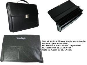 Thierry Mugler Briefcase black mixture fibre