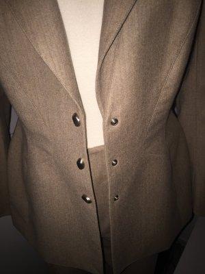 Thierry Mugler Tailleur pantalone beige-marrone chiaro Cachemire