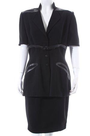 Thierry Mugler Kostüm schwarz Elegant