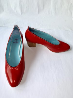 thierry rabotin Wedge Pumps red leather