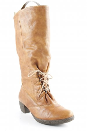 Think! Schaftstiefel braun-cognac Casual-Look