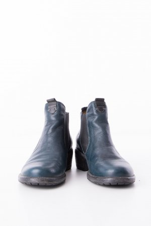 Think! Booties petrol leather