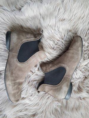 Think Chelsea Boots Leder Taupe Gr.38,5