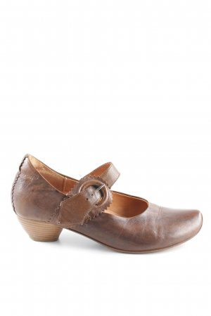 Think! Mary Janes dark brown-cognac-coloured '90s style