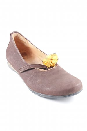 Think! Mary Janes dark brown-light orange simple style