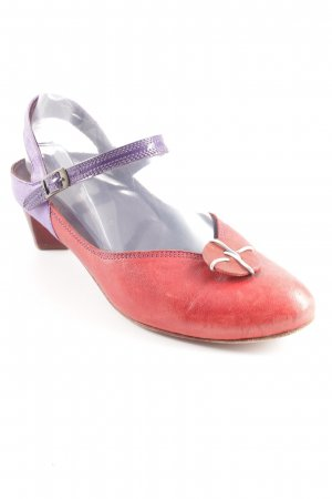 Think! Strapped High-Heeled Sandals brick red-lilac casual look