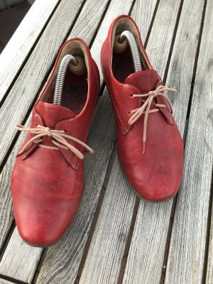 Think! Lace Shoes brick red