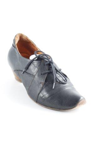 Think! Chaussures à lacets noir style seconde main