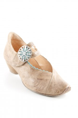 Think! Spitz-Pumps beige-kadettblau Casual-Look