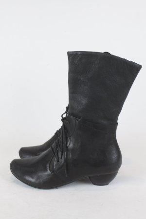 THINK Stiefel Stiefelette Gr. 37 schwarz Leder NEU (E/MF/SC)