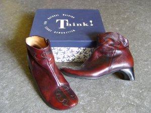Think! Stiefeletten, weinrot, Größe 39,5