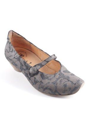 Think! Loafer marrone-grigio-nero motivo astratto elegante