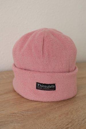 Cappello in tessuto rosa pallido-rosa