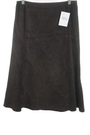 thirtyone Leather Skirt dark brown casual look