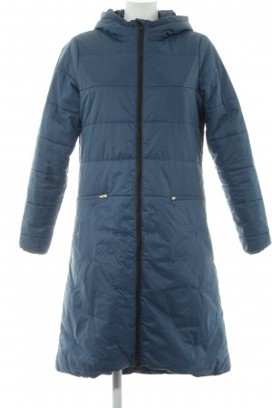 ThokkThokk Manteau matelassé bleu pétrole-noir style décontracté