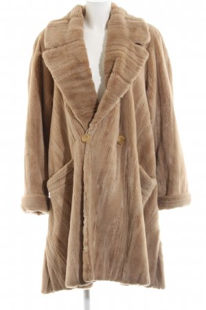 Thomas Albrecht Fake Fur Coat brown casual look