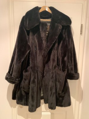 Thomas Albrecht Fake Fur Coat anthracite