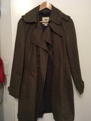 Thomas BURBERRY Trenchcoat, oliv grün-braun, Größe L