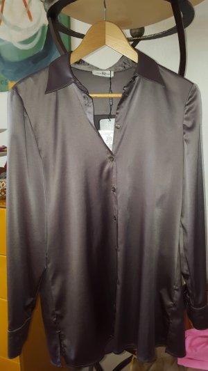 Thomas Rabe Glanzende blouse groen-grijs-khaki Polyester