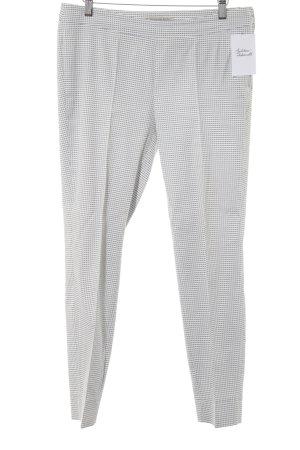 Thomas Rath Pantalon à pinces blanc-gris ardoise motif à carreaux