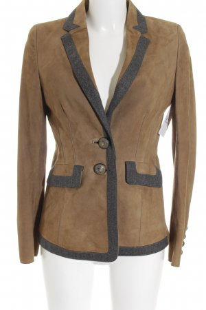 Thomas Rath Leder-Blazer sandbraun-grau Country-Look