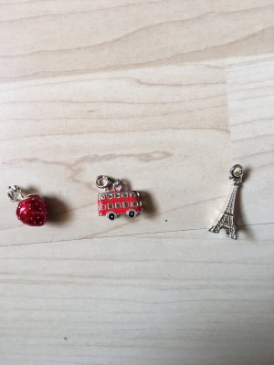 Thomas Sabo Pendant silver-colored-red