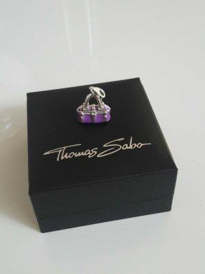 Thomas Sabo Anhänger Charm klein Tasche lila