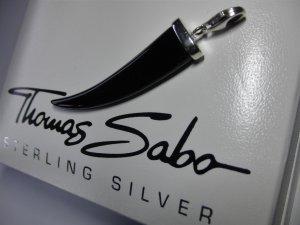 Thomas Sabo Pendentif noir-argenté