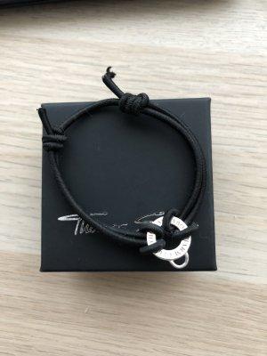 Thomas Sabo Braccialetto sottile argento-nero