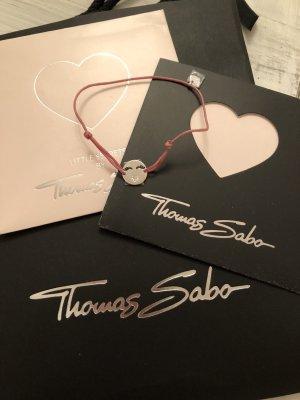 Thomas Sabo Braccialetto sottile argento-rosa