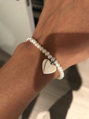 Thomas Sabo Braccialetto sottile bianco-argento