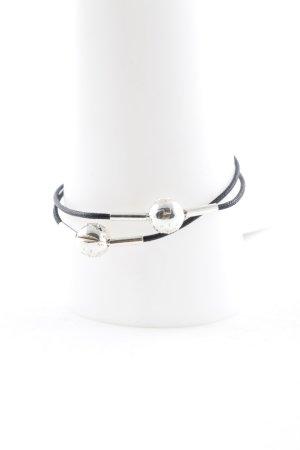 Thomas Sabo Bracelet noir-argenté style universitaire