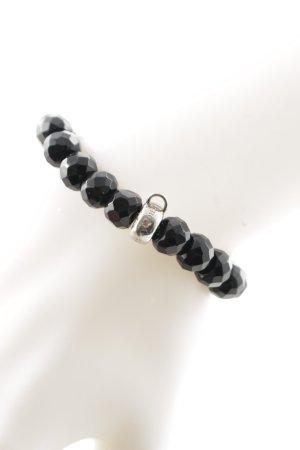 Thomas Sabo Bracelet black-silver-colored Label engraving